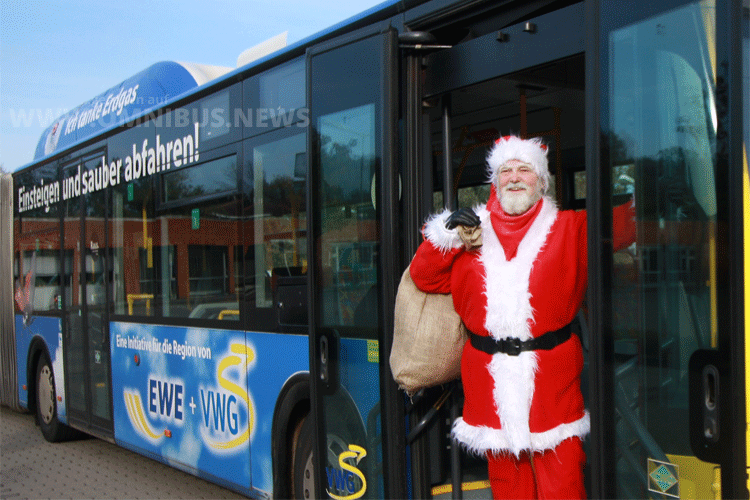 Weihnachtsmann an Bord... Foto: VWG