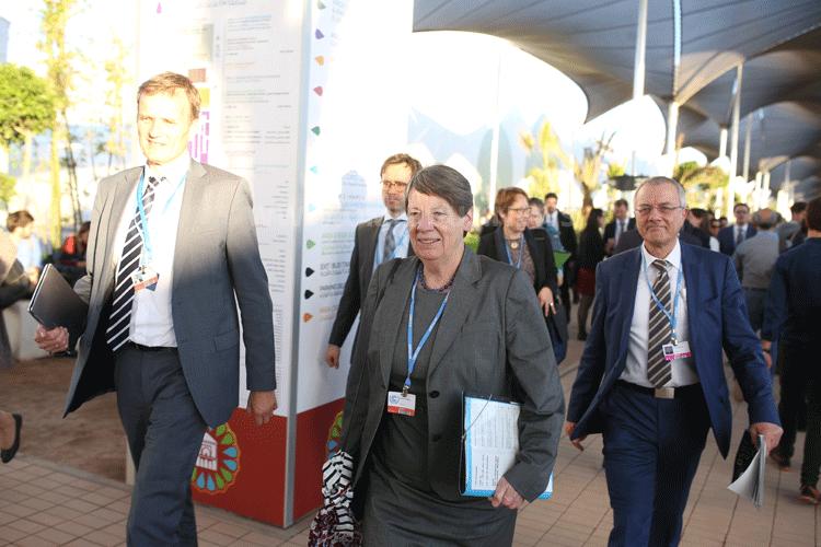Dr. Barbara Hendricks im November 2016 in Marrakesch auf der 22. UN-Klimakonferenz (COP22 ). Foto: BMUB / Sascha Hilgers