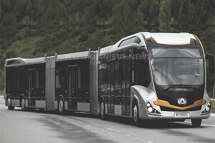 BRT auf türkisch: Der Doppelgelenkbus von Akia. Foto: Akia