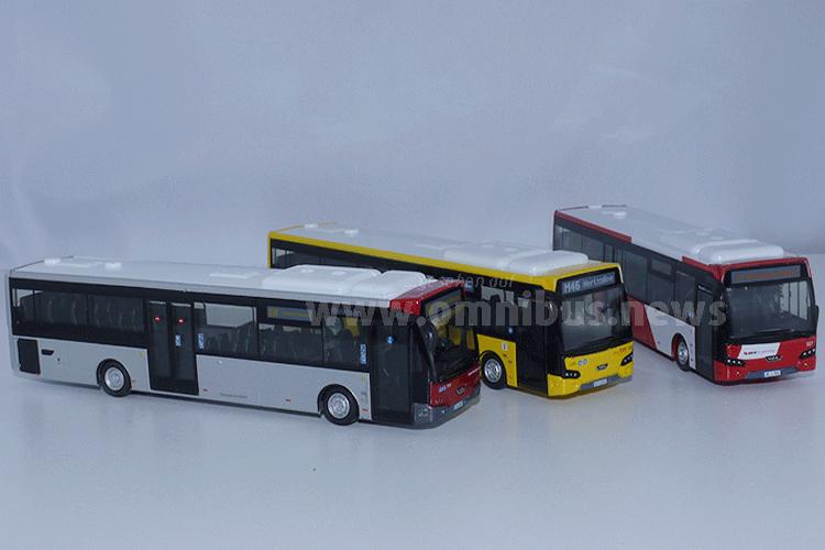 Auch als kleiner Modellbus gefragt: Der Citea LLE im Maßstab 1/87. Foto: Schreiber