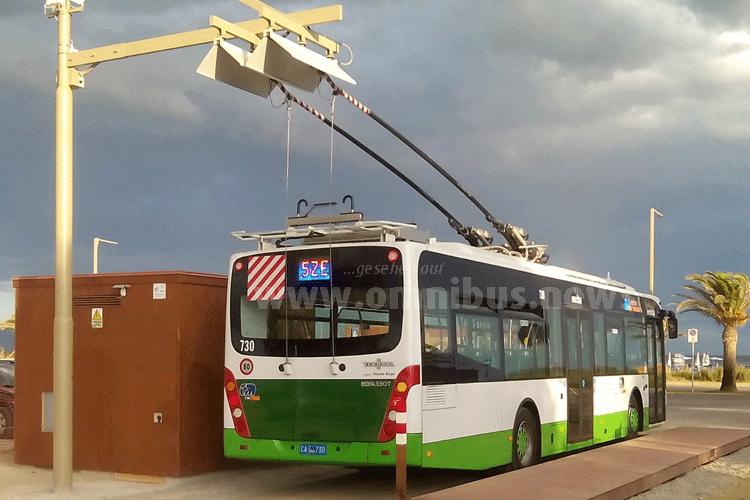 Die gelieferten IMC-Batteriebusse verfügen über eine Länge von 12 Metern und eine Kapazität von 85 Fahrgästen plus dem Fahrer. Foto: Vossloh Kiepe