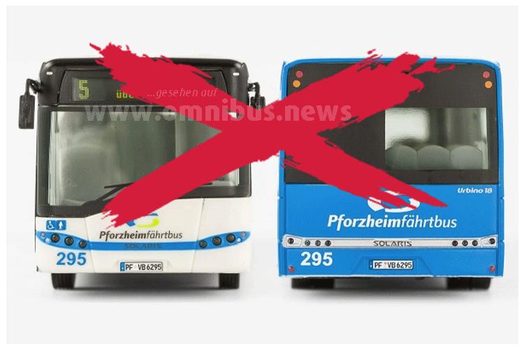 Pforzheim hat keine eigenen Linienbusse mehr. Foto: VK Modelle / Montage: omnibus.news
