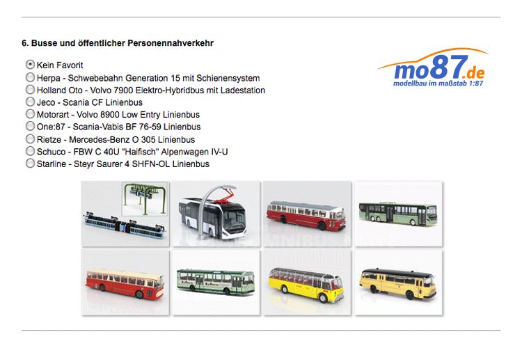 Modellbusse des Jahres