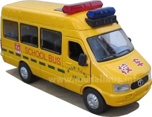 Chinesischer Schulbus mit Lizenz