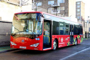 Chinesische Elektrobusse in London