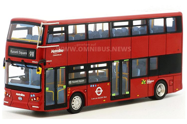 BYD K8SR Elektro-Doppeldecker Modellbus