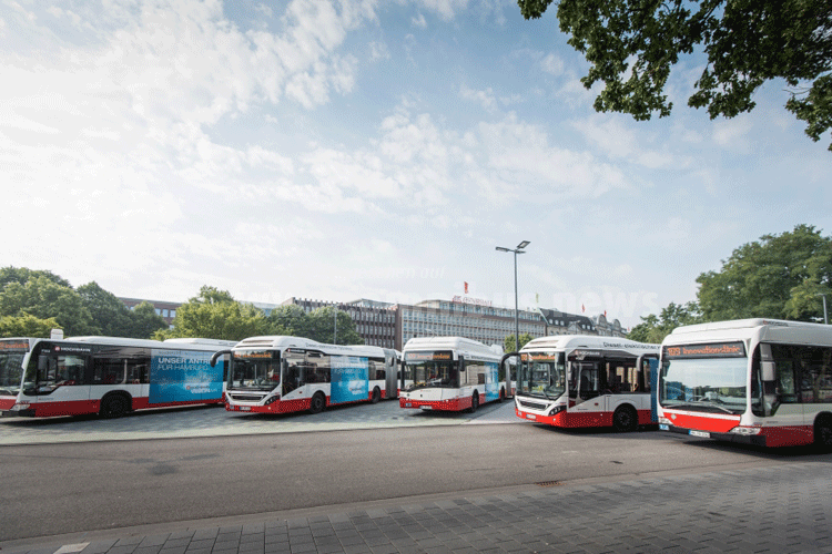 530 E-Busse für Hamburg