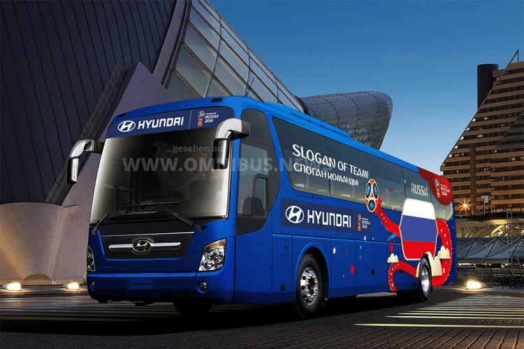 Slogan für WM2018-Bus