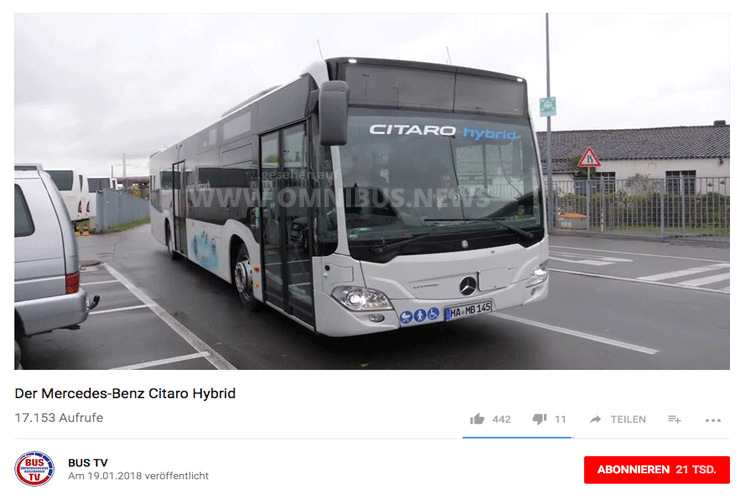 BUS TV: Citaro Hybrid