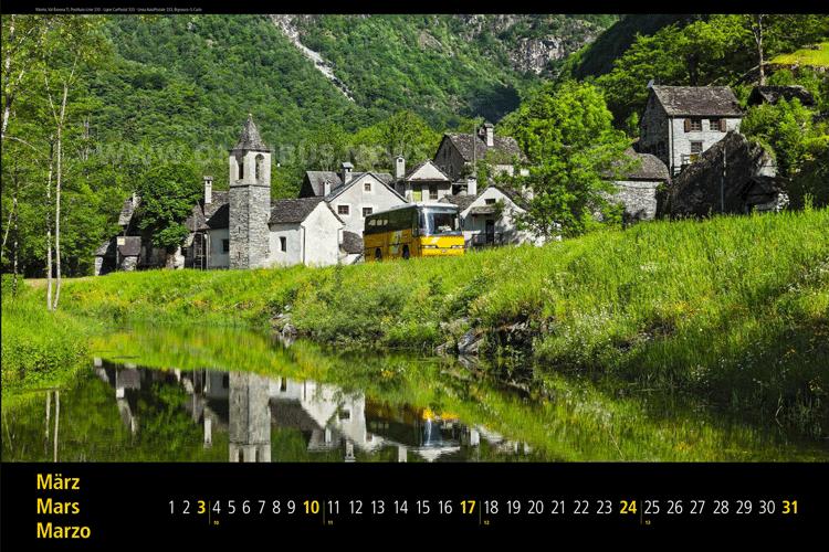 Postauto-Kalender