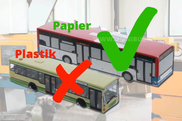 Papier- statt Plastikbusse
