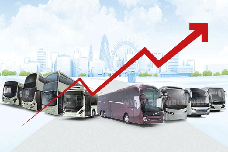 Volvo Bus im Plus