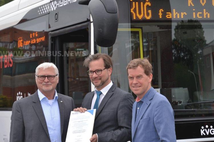 36 E-Busse für KVG