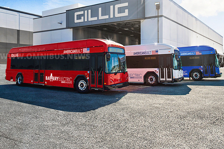 Gillig präsentiert E-Bus