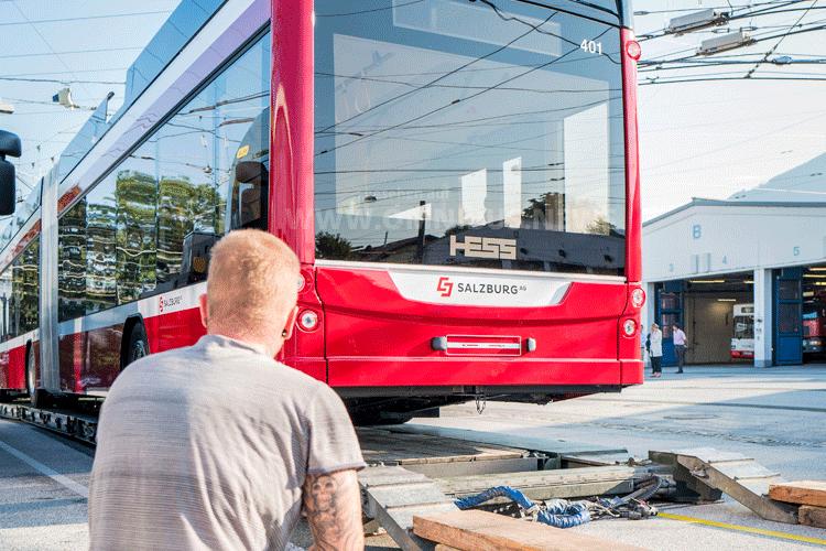 Erster eO-Bus