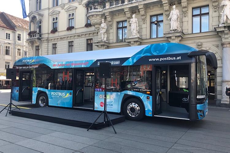 H2-Bus auf Werbetour