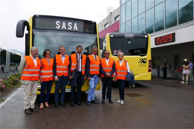 In Südtirol hat SASA neue Hybridbusse in Dienst gestellt. Foto: SASA