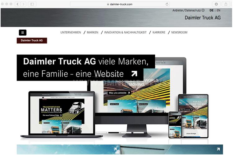 Daimler tritt neu auf