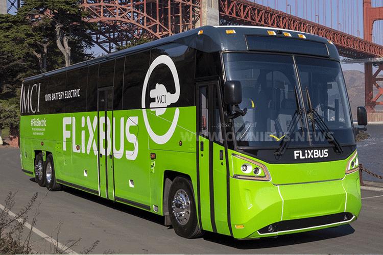 Flixbus mit E-Bus von MCI