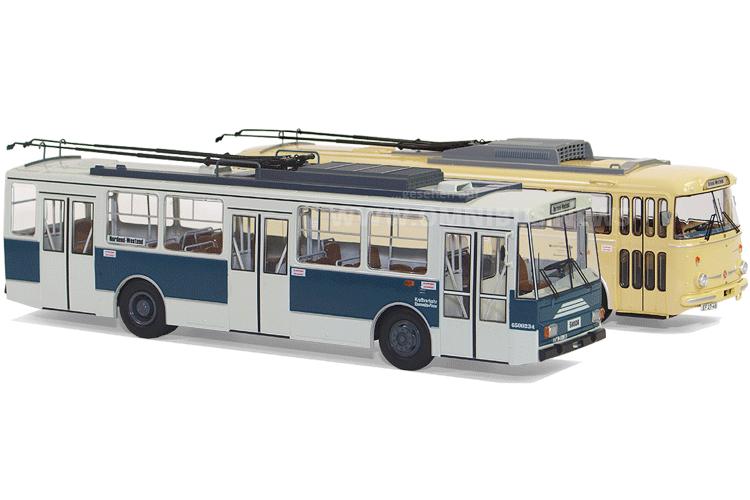 Trolley-Modellbusse