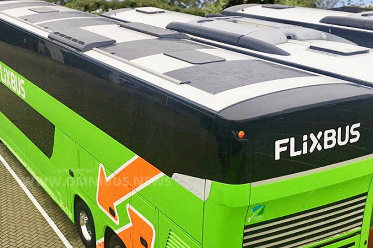 Flixbus mit Solarpanel
