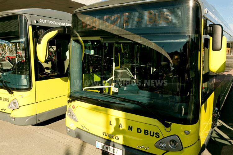 Überland im E-Bus