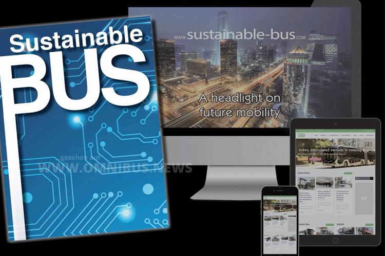 Sustainable Bus auf Papier
