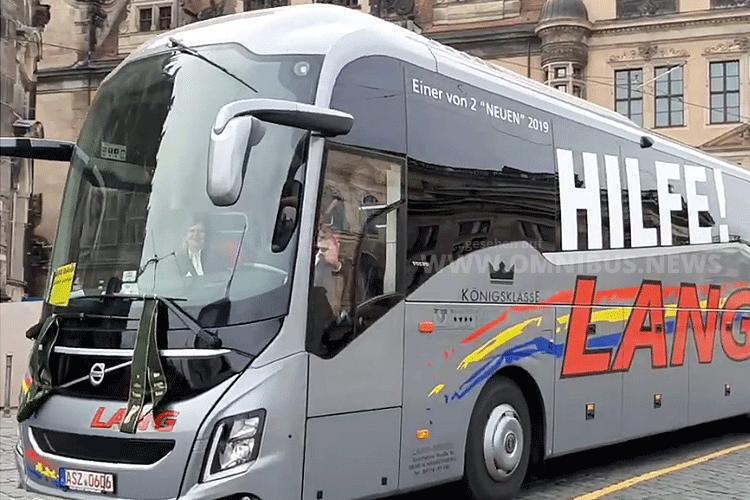 Bus-Demo in Dresden