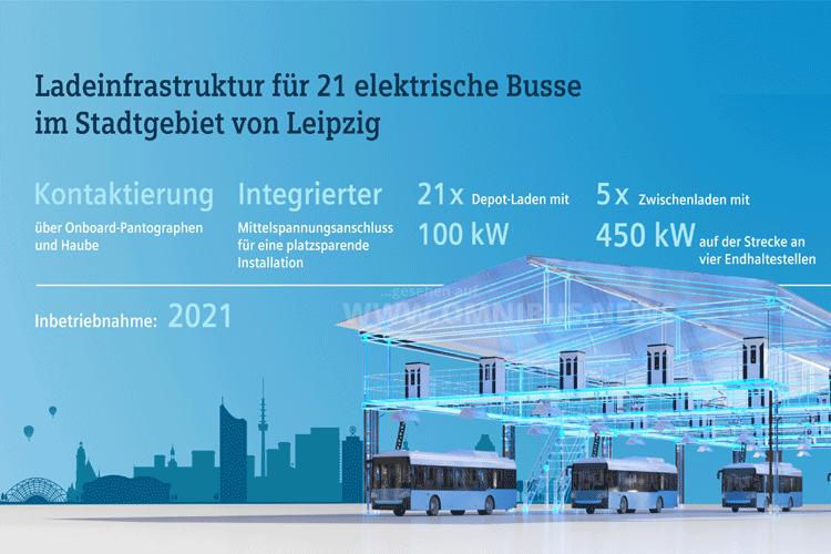 Siemens lädt E-Busse der LVB