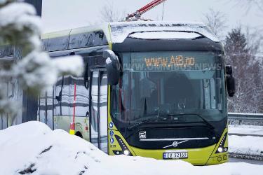 Nördlichste E-Bus-Flotte