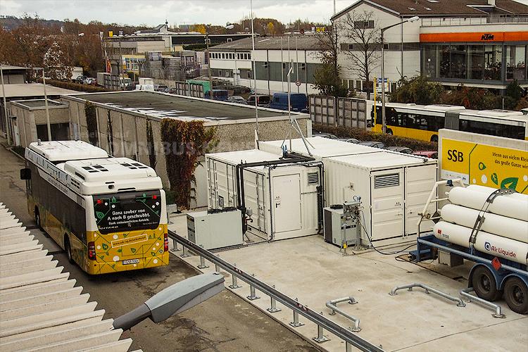 SSB eröffnet H2-Tankstelle