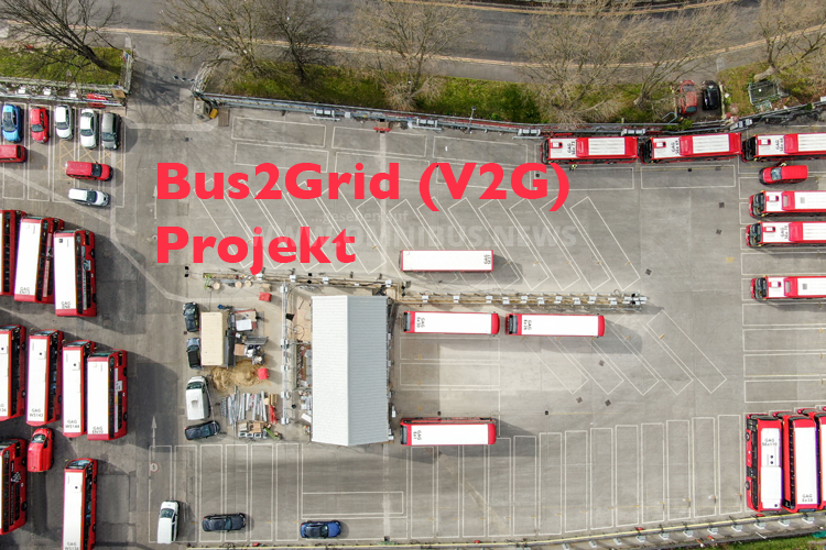 Bus2Grid mit 28 E-Bussen