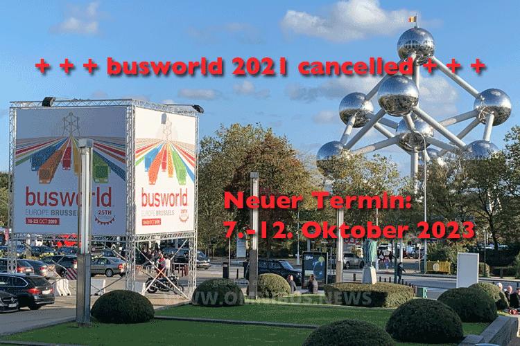 Busworld 2021 abgesagt