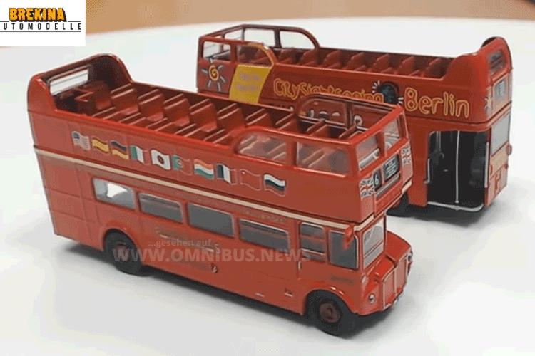 AEC Routemaster open top 1/87