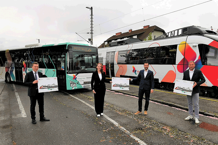 Neuer Bus-Look in Kärnten