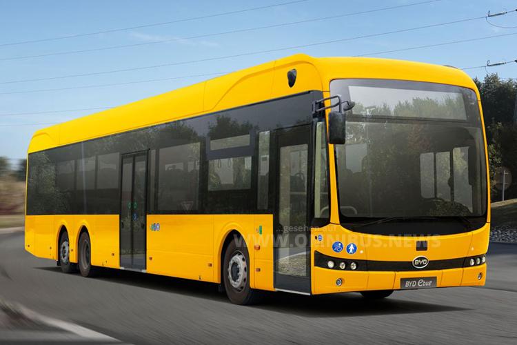 15m E-Bus von BYD