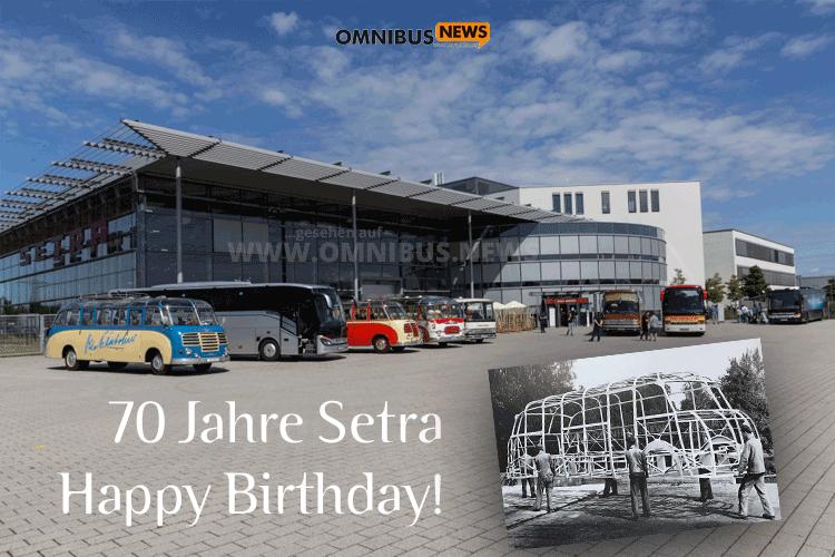 Setra feiert Geburtstag