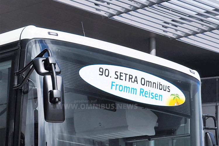 90. Setra für Fromm Reisen