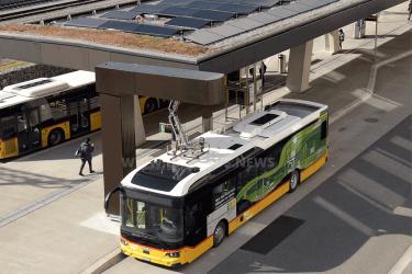 Scania E-Bus bei PostAuto