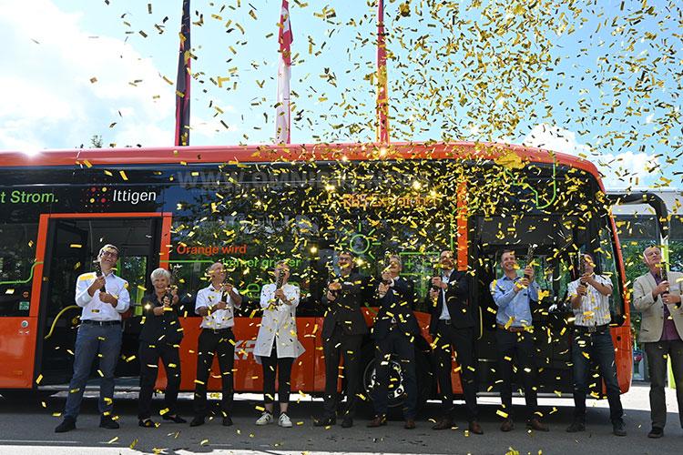 1. E-Bus bei RBS in Betrieb