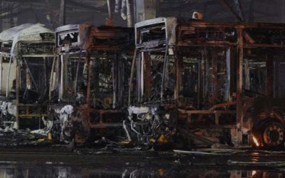 Feuer im SSB-Busdepot