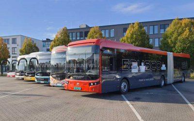 Vergleichstest E-Gelenkbusse